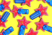 4th of July / Fourth of July Holiday Inspiration - red, white, and blue looks, diy crafts, colorful treats, firework fun, stars and stripes, and more!
