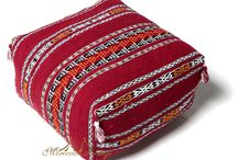 """Seating Handwoven Pillows / Moroccan Sitting Kilim Handwoven Cushions add warmth and comfort to your design with this beautiful seating kilim; handwoven by women from the Atlas in Morocco, each one is unique; there might be a slight variation in design. SIZE: 24""""x24""""x14"""""""