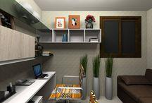 Home Office - Desejo Decoração / Se você precisa trabalhar em casa, planeje o espaço conosco. Acesse o nosso site para mais detalhes: http://ow.ly/Ol6mE