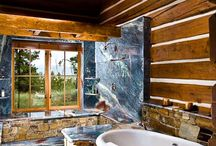 Rustykalna łazienka - Bathroom Designs, Log, Rustic