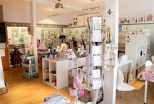 Gift shop in interior - Locally Produced for You, West Bridgford / Unique gifts and creative workshops. An independent gift shop that showcases local makers/artists work.  http://locallyproducedforyoushop.com/