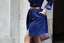 Chic and Stylish Outfit / #chic #stylish #outfit #dress #blue #bluedress #trenchcoat #work #trend #jacket #mantel #fashion