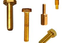 Brass Bolts /  Brass bolt is a form of threaded fastener with an external male thread made from Brass. Bolts are generally used as connectors with applications in various mechanical and electrical industries.  Bolts use a wide variety of head designs, as do screws. These are designed to engage with the tool used to tighten them. Some bolt heads instead lock the bolt in place, so that it does not move and a tool is only needed for the nut end.