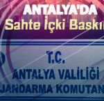 Antalya'da 264 Litre Sahte İçki Ele Geçirildi