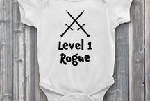 Level 1 Baby / Every hero has to start somewhere and these onesies from Level1Gamers celebrate your little adventure's journey from the beginning. We feature 10 of the most popular role-playing classes to choose from like the rogue, bard, and paladin. Each onesie is 100% soft cotton and is made to order with the highest quality heat transfer vinyl. Unisex for boys and girls.