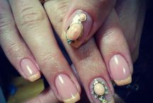 мои работы ногти)))
