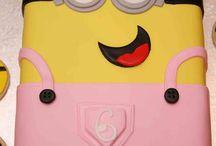 Minion girlie cake 1