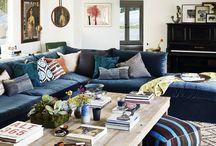 Design - Blue Velvet Sectional