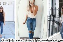 Outfits con jeans para esta primavera-verano