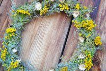 Flower Wreath/Венки из цветов / Венки из цветов и сухоцветов.