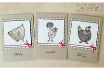 Stampin up hey chick