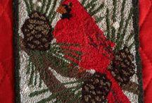 Crane Design Punchneedle Embroidery Kits / These punchneedle emboridery kits are from Crane Design.