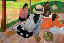 PAUL GAUGUIN / EUGÈNE HENRI PAUL GAUGUIN (7 June 1848 – 8 May 1903) was a French post-Impressionist artist who was not well appreciated until after his death. Gauguin is now recognized for his experimental use of color and synthetist style that were distinctly different from Impressionism. His work was influential to the French avant-garde and many modern artists, such as Pablo Picasso and Henri Matisse.