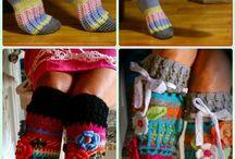háčkované a pletené ponožky a podkolenky