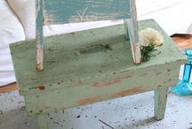 Old Benches, Ladders & Stools