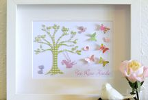 Baby Girls Personalised Gifts / Gifts for newborn baby girls - personalised artworks