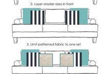 Sofa styling polštářů