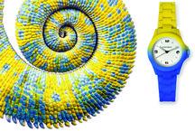 Kamawatch / KAMAWATCH, il primo orologio  con  trattamento Thermic Technology. Il cambio di colore da nero a colorato  avviene al raggiungimento di una temperatura di 22°centigradi. Ripristinata la temperatura iniziale  al di sotto di 22°centigradi restituisce all'orologio il colore originario.