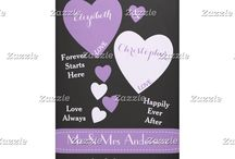 Zazzle ~ Wedding backdrops, banners, photobooth