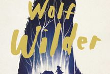 Lettered book covers