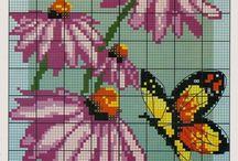 vyšívání - motýli / vyšívání