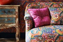 Florals on furniture / Floral fabrics on furniture