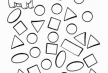 Shape maze worksheet / This page has a lot of free printable Shape maze worksheet for kids