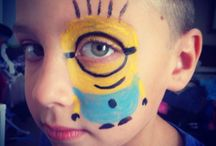 Despicable Me Face Painting
