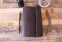 Wrap Leather Quill Travelers Notebooks / Our flagship Traveler Notebook.  Wrap with elastic closure.  2 flap styles.