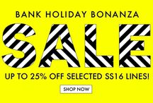 SALE NOW ON / All our current and most recent sales and promos