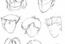 włosy szkic