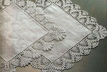 bicos de croche de toalhas de mesa