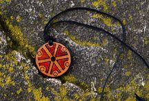 Slavic and pagan Jewelry / handmade wooden slavic jewelry