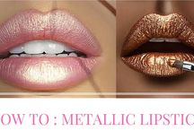 Metallic Lipstick / Here you will find some pretty metallic lipstick looks. Watch our video on how you can easily recreate a metallic lipstick yourself at home!
