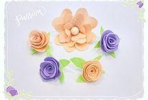 fiori e feltro