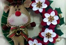 ghirlande natalizie feltro