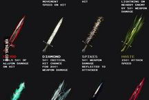 Weapons(medieval, fantasy)