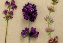 Levendula / lavender crafts, cross stich patterns, embroidery