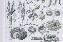 point de croix legumes