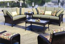 MARTINIQUE PATIO FURNITURE BY SOUTH SEA RATTAN / MARTINIQUE SOFA SET AND OUTDOOR DINING SET - TAKE 15% OFF AND FREE SHIPPING WHEN YOU BUY BOTH SETS.