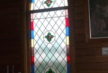 Stained Glass Windows  / Some of my work at Creative Glass Studio Oxford NZ