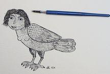 Inktober 2016 / my Inktober 2016 drawings - A harpy's story