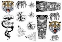 Amazing Raymond Temporary Tattoos are Awesome. Try before you ink / Now you can test out designs first before committing needle to skin...A very smart way to do this. Try many designs first so that you will be comfortable with the real thing