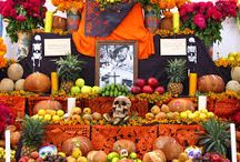 Day of the Deaths/Día de los Muertos / I want to show the world this beautiful and colorful mexican tradition in which we remember those who passed away by decorating their tombs or built an altar with a picture of the love ones and their favorite food and drinks.