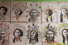 Thema indianen / Amerika