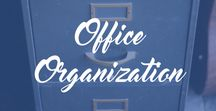 Office Organization / Office Inspiration, office organization tips, organization tricks, DIY, dream office, home office, office decorating