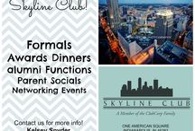 Social Events / Sorority/Fraternity formals, birthday parties, anniversary celebrations, bridal showers, and much more! / by Skyline Club Indy