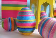 Velikonoční vajíčka - bavlnkové inspirace / Inspirace z netu na výrobu velikonočních vajíček - bavlnková technika.