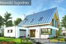 """Projekt domu Viking 2 / Projekt domu Viking 2 jest jednym z projektów z serii domów """"Viking"""" - pomniejszoną wersją ze zwężoną bryłą główną i pojedynczym garażem. Budynek zaprojektowano na planie prostokąta, przykrytego dwuspadowym symetrycznym dachem, z dobudowanym parterowym garażem.  Dowiedz się więcej na http://www.mgprojekt.com.pl/viking-2"""