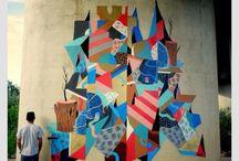 Graffiti Geometrici / Fantasie di colori nelle strade della città ‼️